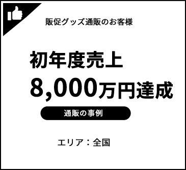 初年度売上:8,000万円達成